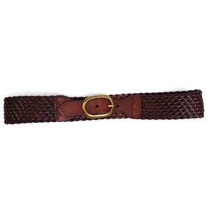 LOFT Wide Brown Woven Waist Belt